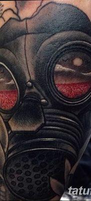 фото тату противогаз от 11.08.2017 №159 – Tattoo gas mask_tatufoto.com
