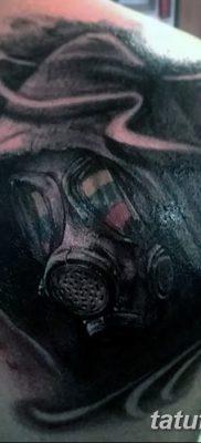фото тату противогаз от 11.08.2017 №162 – Tattoo gas mask_tatufoto.com