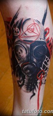 фото тату противогаз от 11.08.2017 №163 – Tattoo gas mask_tatufoto.com