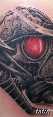 фото тату противогаз от 11.08.2017 №164 – Tattoo gas mask_tatufoto.com