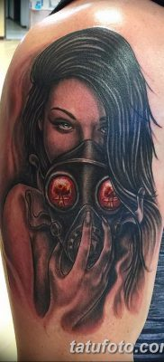 фото тату противогаз от 11.08.2017 №165 – Tattoo gas mask_tatufoto.com