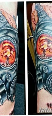 фото тату противогаз от 11.08.2017 №166 – Tattoo gas mask_tatufoto.com