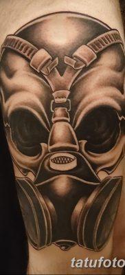 фото тату противогаз от 11.08.2017 №167 – Tattoo gas mask_tatufoto.com