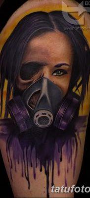 фото тату противогаз от 11.08.2017 №169 – Tattoo gas mask_tatufoto.com