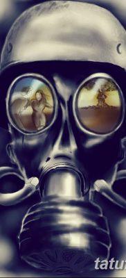 фото тату противогаз от 11.08.2017 №171 – Tattoo gas mask_tatufoto.com