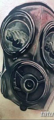 фото тату противогаз от 11.08.2017 №174 – Tattoo gas mask_tatufoto.com