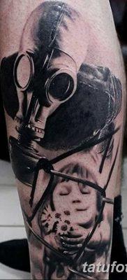 фото тату противогаз от 11.08.2017 №180 – Tattoo gas mask_tatufoto.com