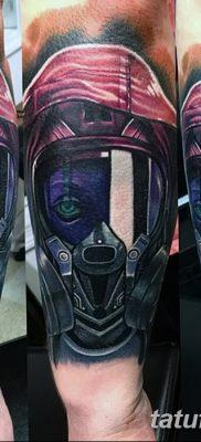 фото тату противогаз от 11.08.2017 №181 – Tattoo gas mask_tatufoto.com
