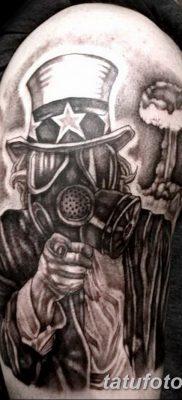 фото тату противогаз от 11.08.2017 №186 – Tattoo gas mask_tatufoto.com