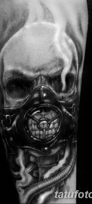 фото тату противогаз от 11.08.2017 №190 – Tattoo gas mask_tatufoto.com