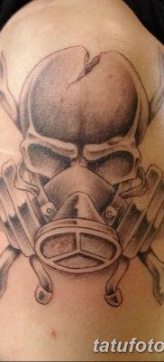 фото тату противогаз от 11.08.2017 №191 – Tattoo gas mask_tatufoto.com