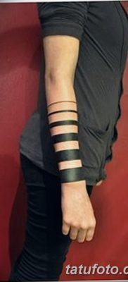 фото тату прямая линия (полоса) от 11.08.2017 №009 – Straight line tattoo