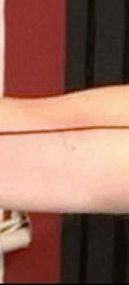 фото тату прямая линия (полоса) от 11.08.2017 №010 – Straight line tattoo