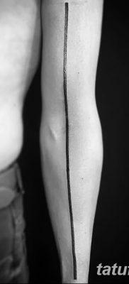 фото тату прямая линия (полоса) от 11.08.2017 №017 – Straight line tattoo