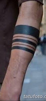фото тату прямая линия (полоса) от 11.08.2017 №021 – Straight line tattoo