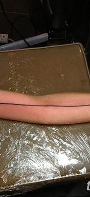 фото тату прямая линия (полоса) от 11.08.2017 №030 – Straight line tattoo