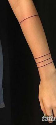фото тату прямая линия (полоса) от 11.08.2017 №032 – Straight line tattoo