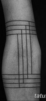 фото тату прямая линия (полоса) от 11.08.2017 №037 – Straight line tattoo