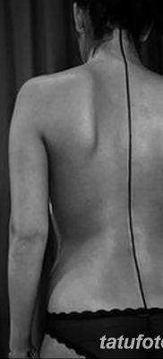 фото тату прямая линия (полоса) от 11.08.2017 №113 – Straight line tattoo