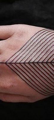 фото тату прямая линия (полоса) от 11.08.2017 №118 – Straight line tattoo