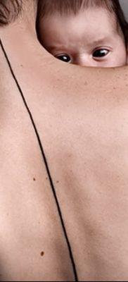 фото тату прямая линия (полоса) от 11.08.2017 №121 – Straight line tattoo