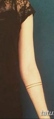 фото тату прямая линия (полоса) от 11.08.2017 №124 – Straight line tattoo
