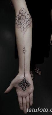 фото тату прямая линия (полоса) от 11.08.2017 №125 – Straight line tattoo