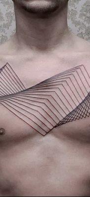 фото тату прямая линия (полоса) от 11.08.2017 №130 – Straight line tattoo