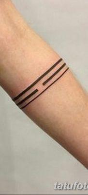 фото тату прямая линия (полоса) от 11.08.2017 №133 – Straight line tattoo
