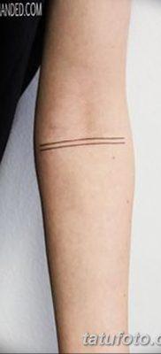фото тату прямая линия (полоса) от 11.08.2017 №135 – Straight line tattoo