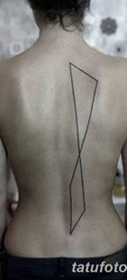 фото тату прямая линия (полоса) от 11.08.2017 №136 – Straight line tattoo