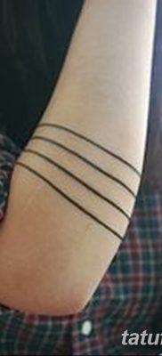 фото тату прямая линия (полоса) от 11.08.2017 №143 – Straight line tattoo