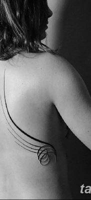 фото тату прямая линия (полоса) от 11.08.2017 №149 – Straight line tattoo