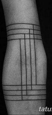 фото тату прямая линия (полоса) от 11.08.2017 №151 – Straight line tattoo