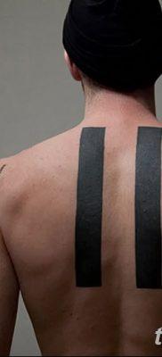 фото тату прямая линия (полоса) от 11.08.2017 №160 – Straight line tattoo