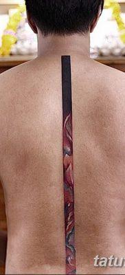 фото тату прямая линия (полоса) от 11.08.2017 №161 – Straight line tattoo