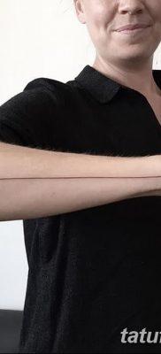 фото тату прямая линия (полоса) от 11.08.2017 №164 – Straight line tattoo
