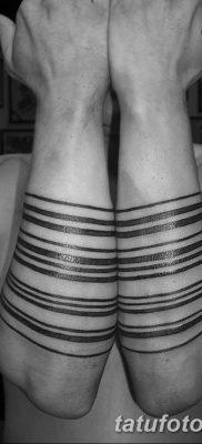фото тату прямая линия (полоса) от 11.08.2017 №165 – Straight line tattoo