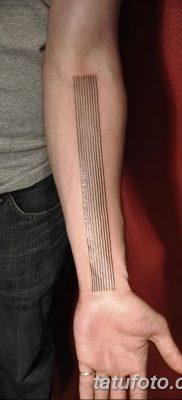 фото тату прямая линия (полоса) от 11.08.2017 №166 – Straight line tattoo