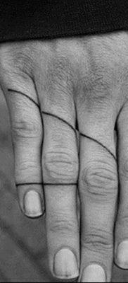 фото тату прямая линия (полоса) от 11.08.2017 №167 – Straight line tattoo