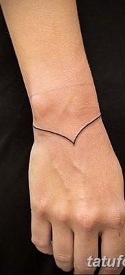 фото тату прямая линия (полоса) от 11.08.2017 №168 – Straight line tattoo