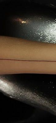 фото тату прямая линия (полоса) от 11.08.2017 №170 – Straight line tattoo