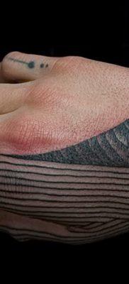 фото тату прямая линия (полоса) от 11.08.2017 №175 – Straight line tattoo