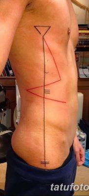 фото тату прямая линия (полоса) от 11.08.2017 №176 – Straight line tattoo