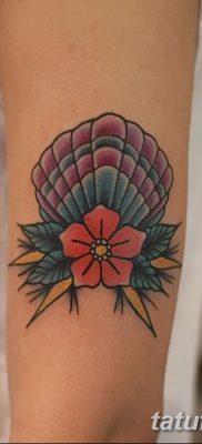 фото тату раковина от 19.08.2017 №173 – Tattoo shell_tatufoto.com