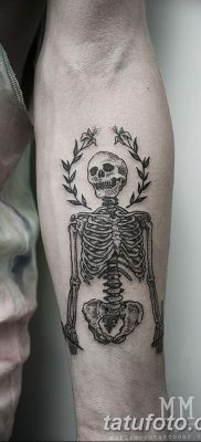 фото тату скелет от 28.08.2017 №026 – tattoo skeleton – tatufoto.com