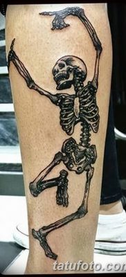 фото тату скелет от 28.08.2017 №042 – tattoo skeleton – tatufoto.com