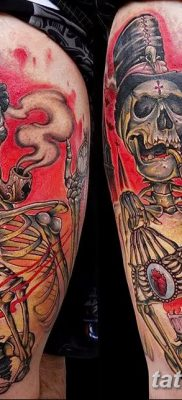 фото тату скелет от 28.08.2017 №092 – tattoo skeleton – tatufoto.com