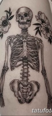 фото тату скелет от 28.08.2017 №119 – tattoo skeleton – tatufoto.com