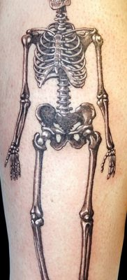 фото тату скелет от 28.08.2017 №123 – tattoo skeleton – tatufoto.com